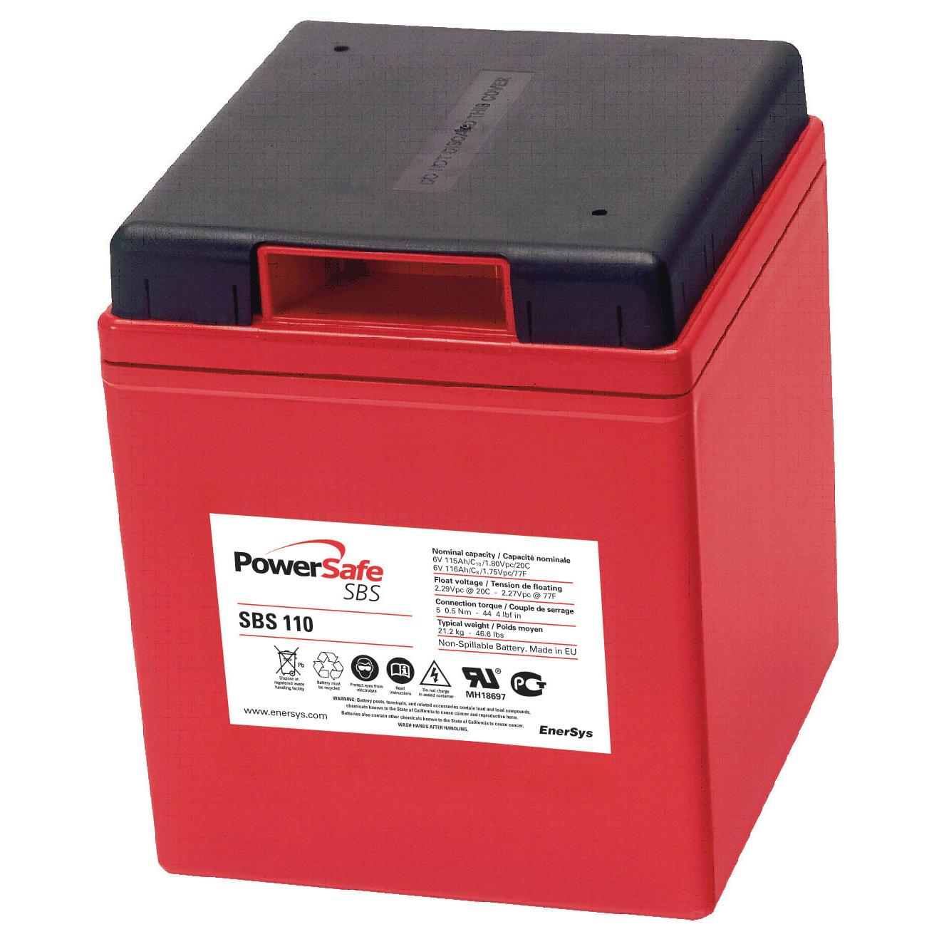 EnerSys PowerSafe SBS 110 6V 115Ah